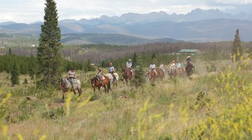 Horse riding at Snow Mountain, one of the many activities offered. Photo by Carrie Dow.