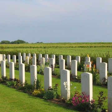 British Cemetery, Secqueville, Normandy. Photo by Gary Lee Kraut