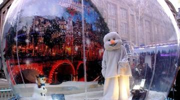 Amsterdam's Winter Snow Globe