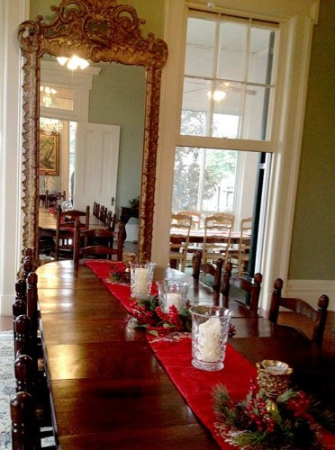 Dining area of the Loyd Hall Plantation house