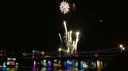 Turn on the lights celebration in Natchitoches