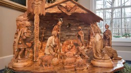 Wooden Nativity Exhibit in Kirtland Ohio