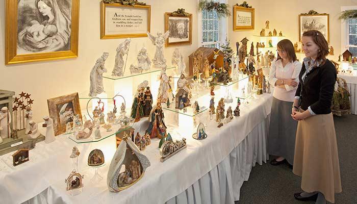 Kirtland holiday display of nativity scenes