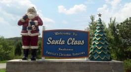 Welcome to Santa Claus, Indiana