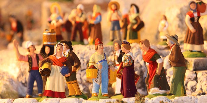 Santons in the Creche France