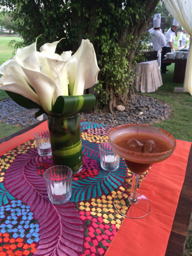 Evening at Casa Velas; tamarindo margarita