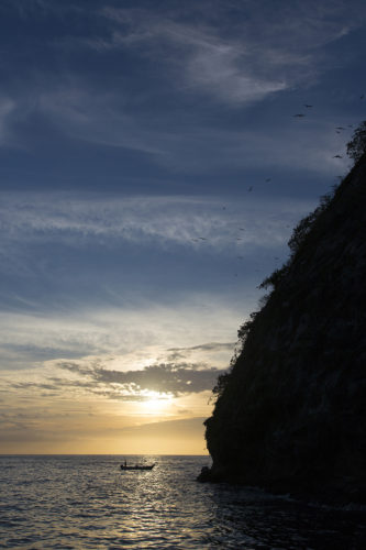 Sunset over Los Arcos National Marine Park