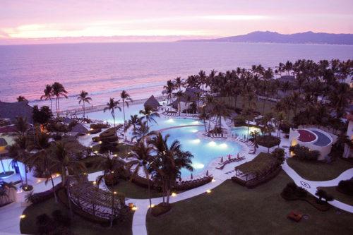 Grand Velas Resort at dusk