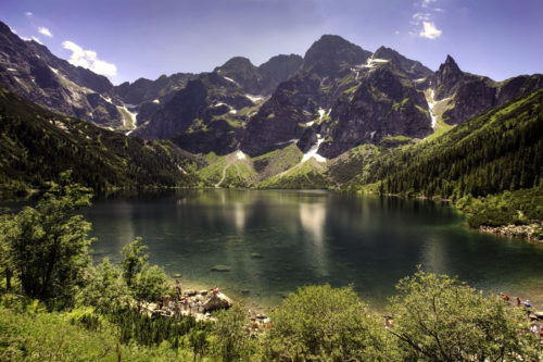 Lake Morskie Oko in the Tatra Mountains