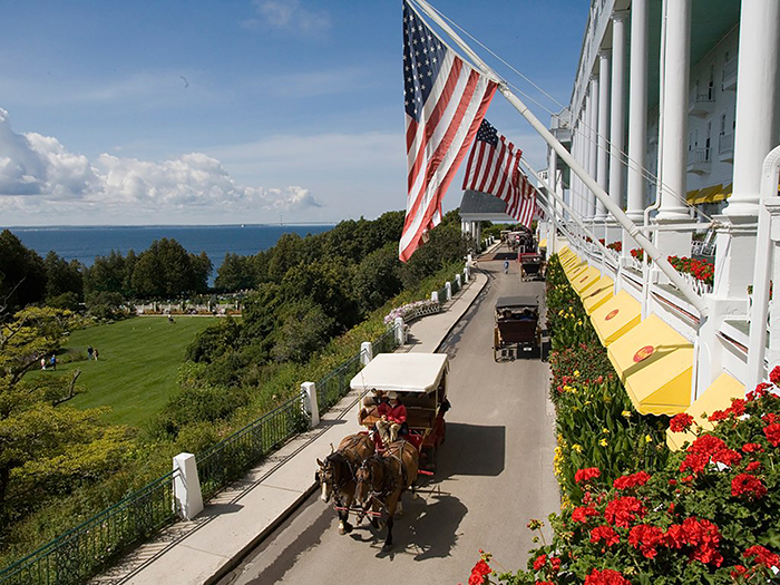 Mackinac Grand Hotel's Front Porch