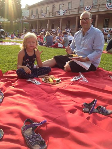 Picnic on a blanket