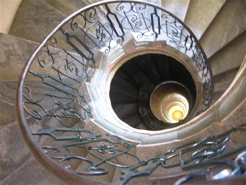 Monastery spiral stairway, Melk, Austria