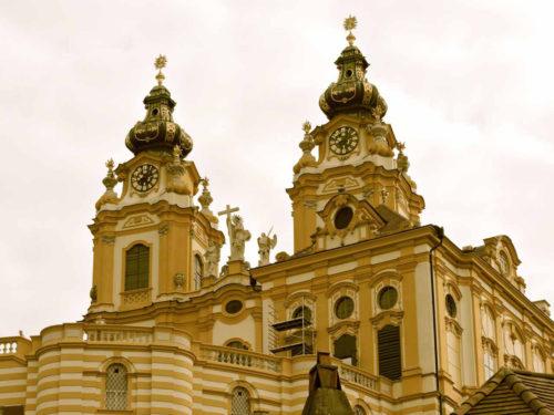 Spires of Benedictine Abbey in Melk