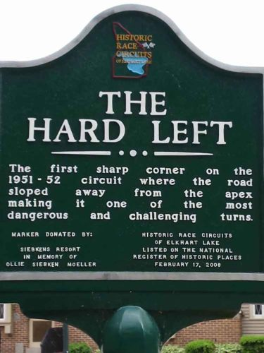 Historic Hard Left Sign