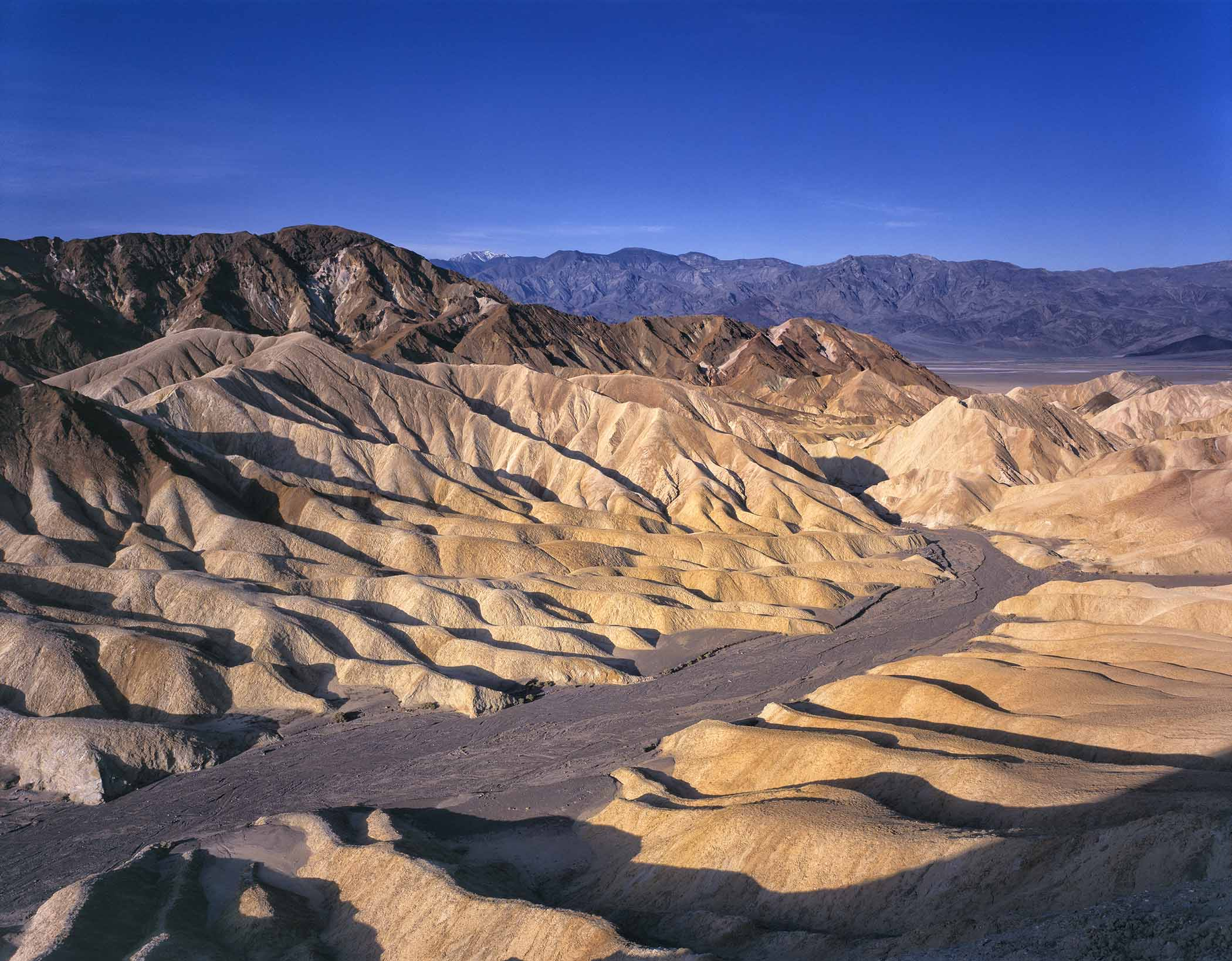 Zabriskie Point badlands, Death Valley National Park, California