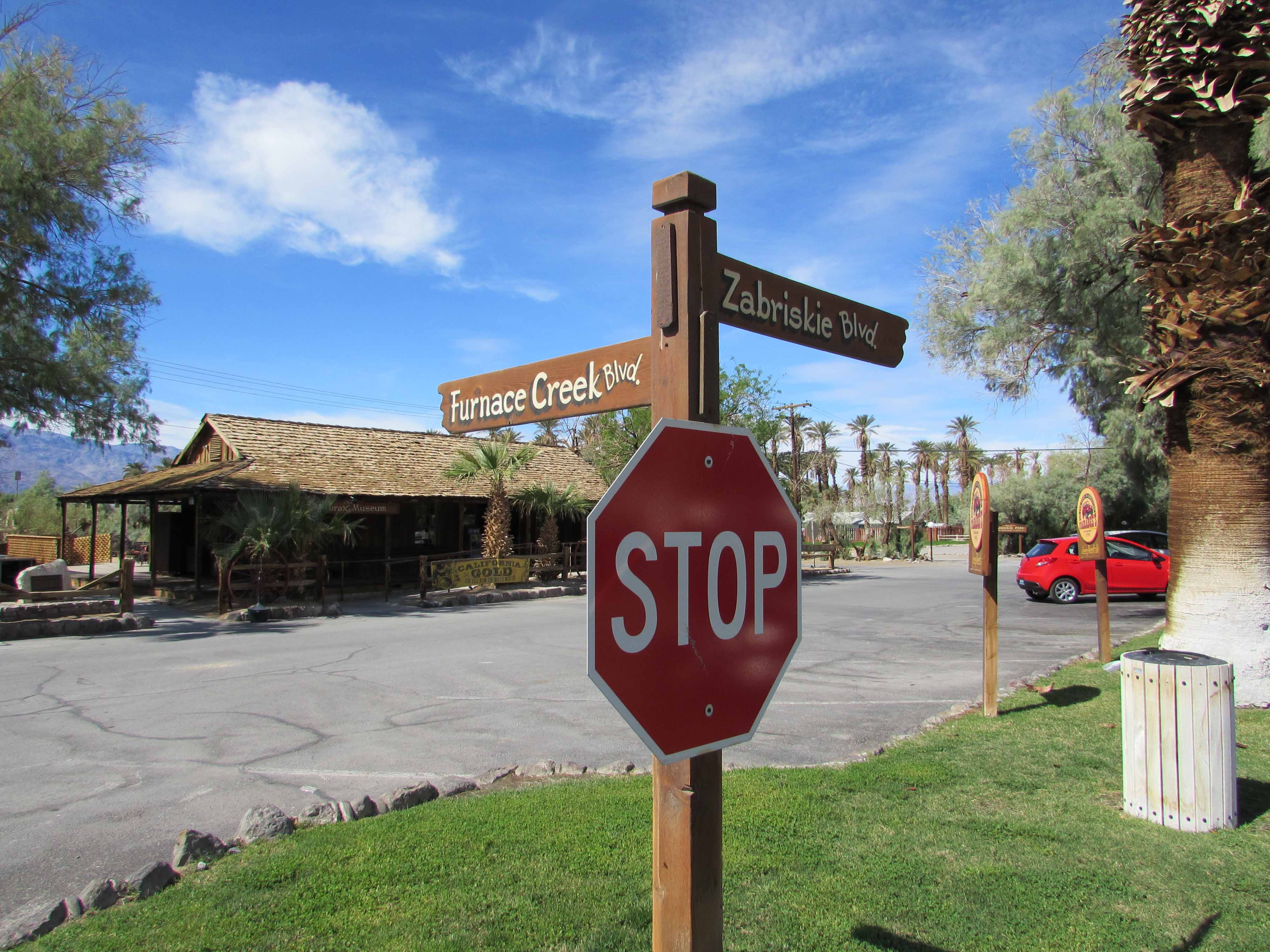 Furnace Creek Street Signs and the Borax Museum
