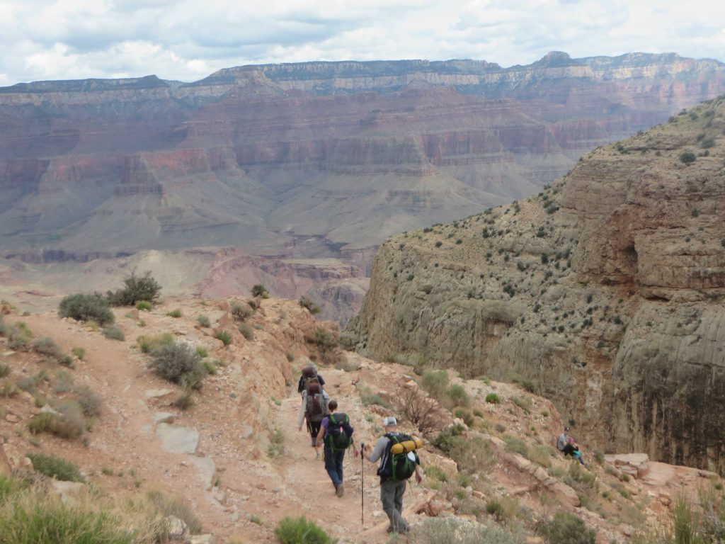 Grand canyon trail going down in time