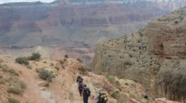 The trail down is winding and steep. Each step takes you back in time 30,000 years.